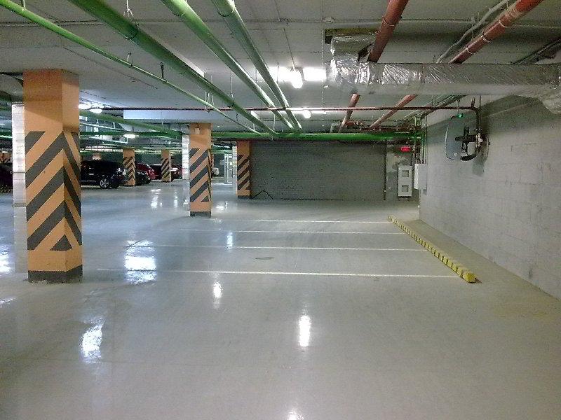 Полимерный пол в паркинге