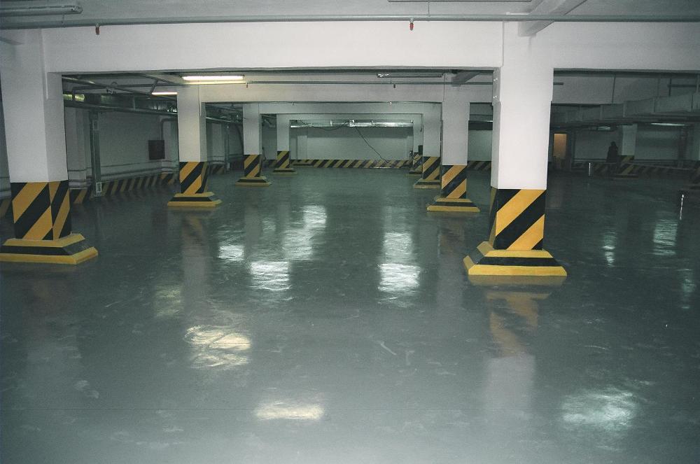 Краска для бетонного пола на подземной парковке