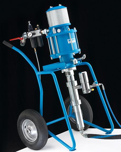 WIWA Professional - Новая серия аппаратов безвоздушного распыления для тяжелой антикоррозийной защиты. Обладает особенно равномерным факелом распыления. Это обеспечивается быстрым переключением пневмодвигателя. Пульсация практически отсутствует.